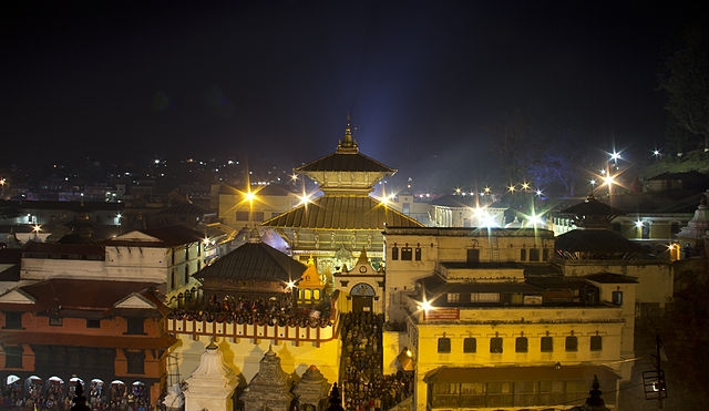 Night View, Pashupatinath_Temple Sorrounding