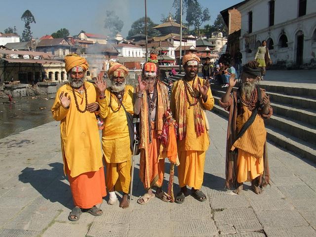 Pashupatinath Temple, sadhus