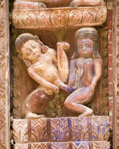 Erotic carving, Pashupatinath Temple